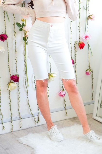 Payback Cropped Jeans in White