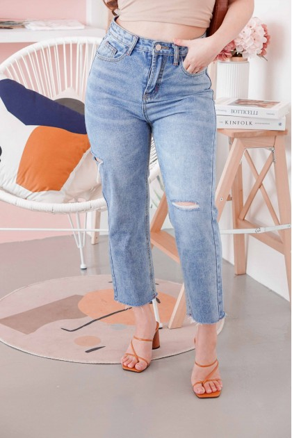 Cut Ties Ripped Jeans in Blue