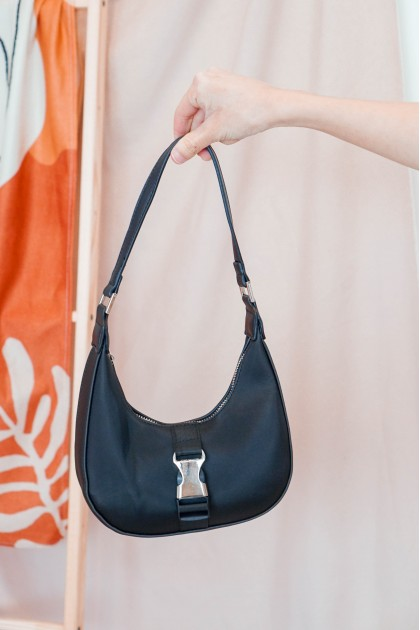 SMOL // Out West Nylon Shoulder Bag in Black