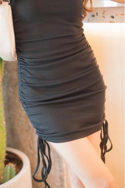 Rumor Has It Halter Dress in Black