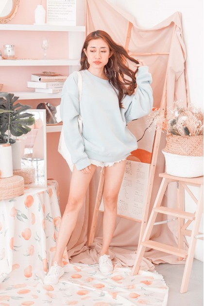 Netflix & Chill Sweater in Baby Blue