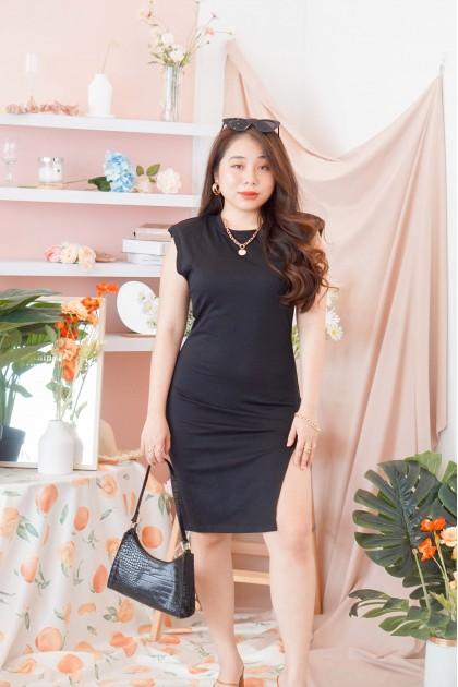 The Modern Muscle Tee Dress in Black