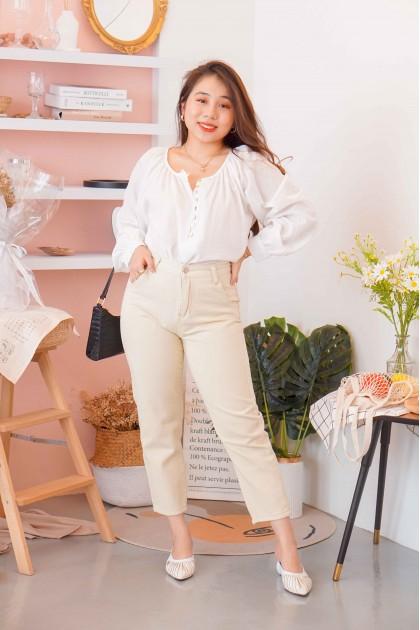 Milk Tea Jeans in Beige