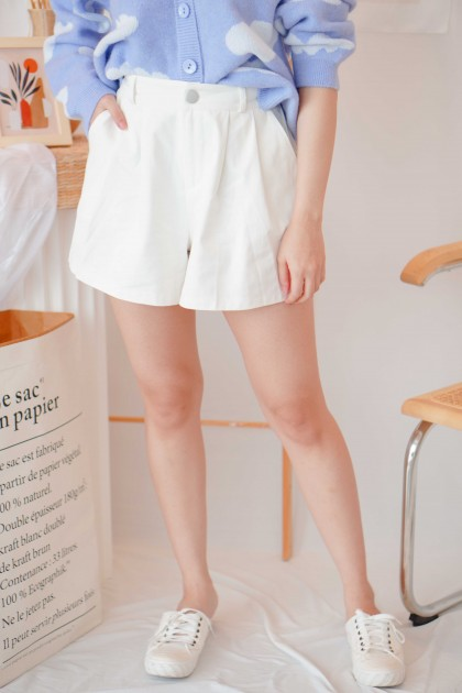 (BACKORDER) Make Believe Shorts in White