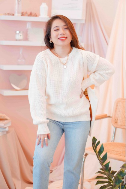 (BACKORDER) Today's Minute Knit Sweater in Cream