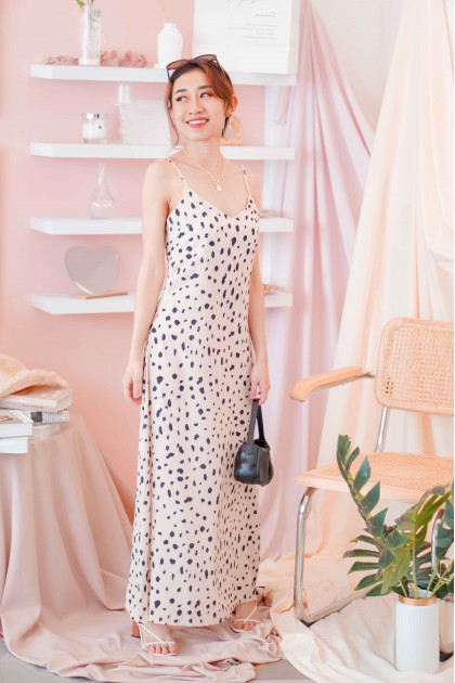 This City Leopard Print Slip Dress