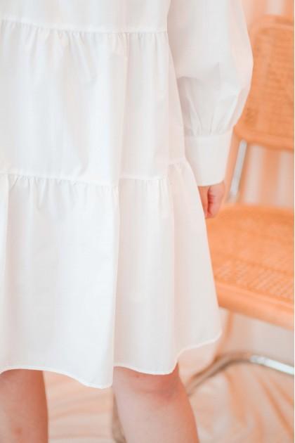Seoul City Flowy Dress in White