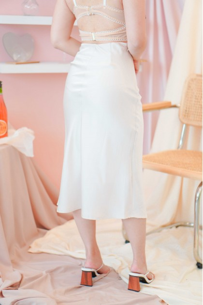 French Charm Satin Skirt