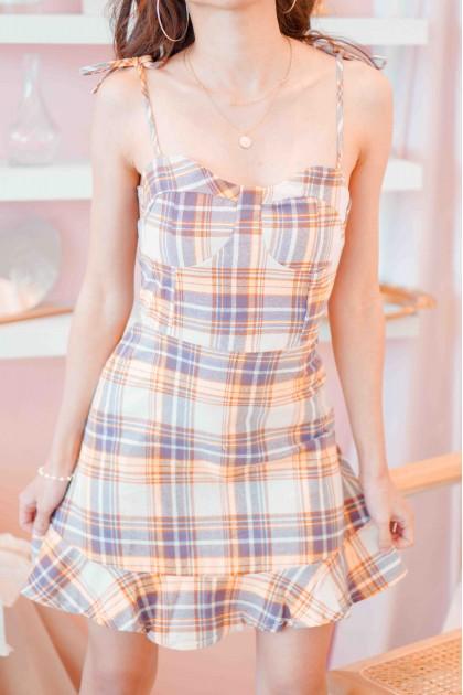 Fling Feelings Gingham Dress in Pink