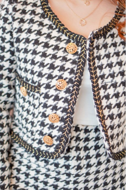 (PREMIUM) Love from Paree Houndstooth Jacket