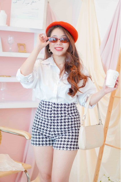 Bring Love On Houndstooth Shorts