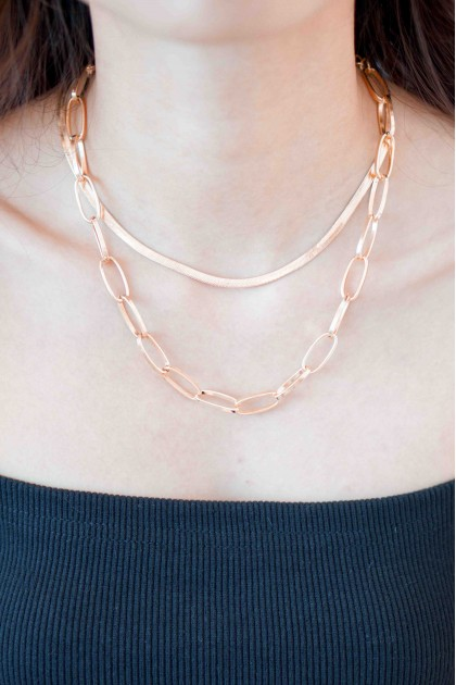 Unlike Love Layered Chain Necklace