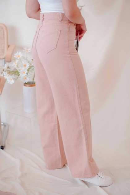 Pink Lake Wide Legged Jeans