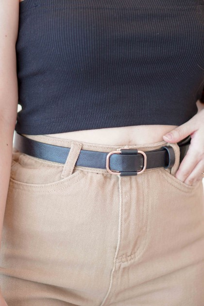 Adjustable Belt in Black