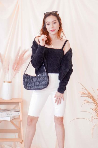 (BACKORDER) Lisa Furry 2 Piece Top in Black