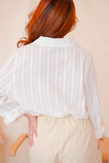 Liss Button Down Top in White