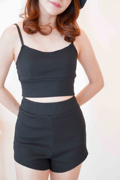 (BACKORDER) Peachy Babe 2 Piece Set in Black
