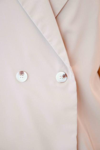 Warm Palms Short Sleeve Blazer in Brown