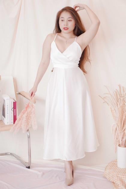 Amalia Maxi Crossback Dress in White