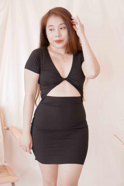 Rule One Cut Out Dress in Black