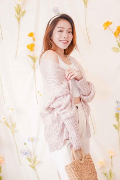 Menlo Knit Cardigan in Pink