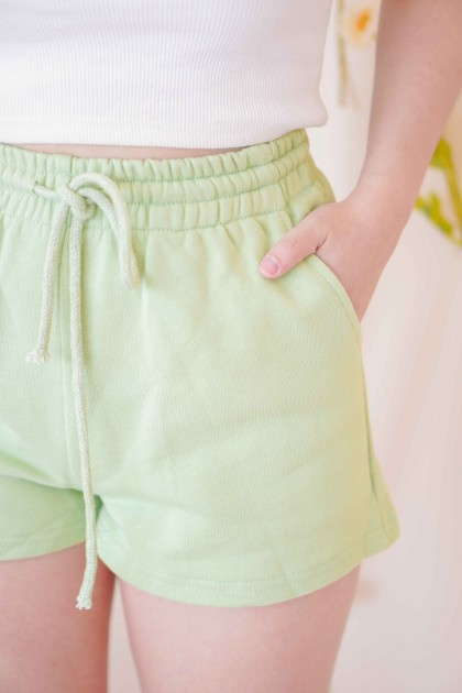 Keep it Casual Lounge Shorts in Green