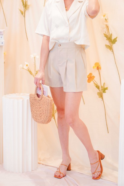 Simple Call Shorts in Beige