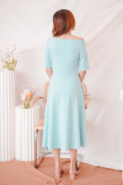 (BACKORDER) Kind Impressions Midi Dress in Green