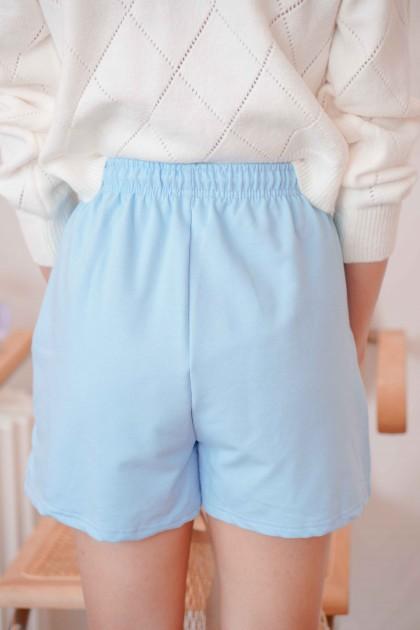 Sky Atlas Lounge Shorts in Blue