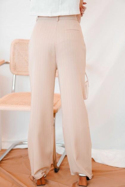 Harper Pants with Stripes in Khaki