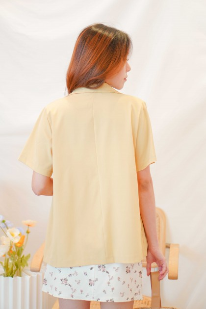 Bay Sands Short Sleeve Blazer in Yellow