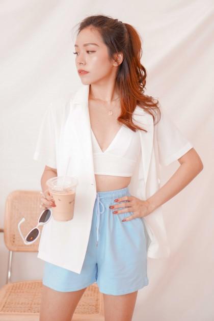 Bay Sands Short Sleeve Blazer in White
