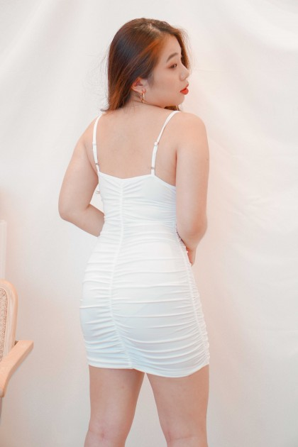 Pure Chances Bustier Dress in White