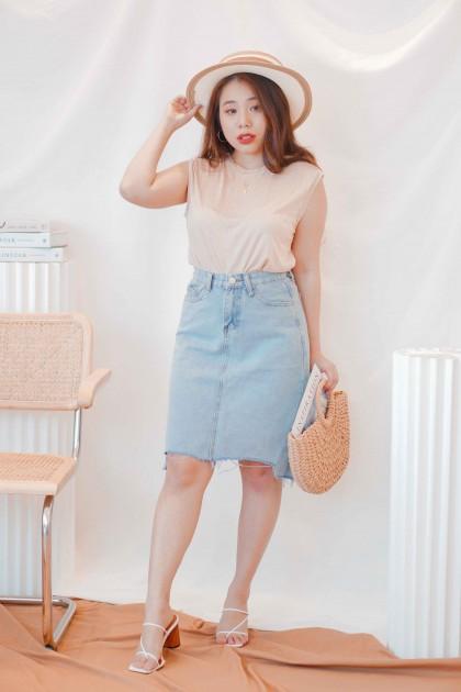 Rachel Midi Denim Skirt