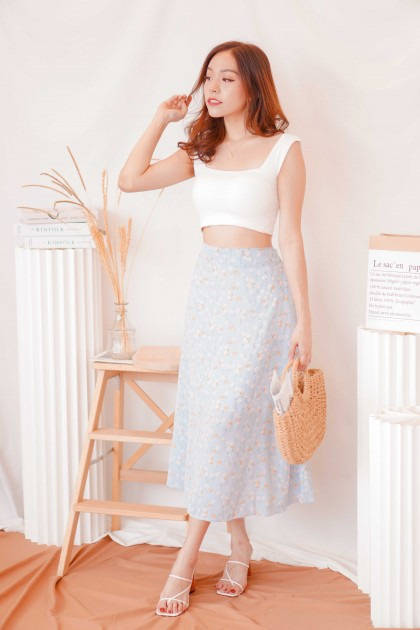 Cold Hearted Padded Crop Top in White