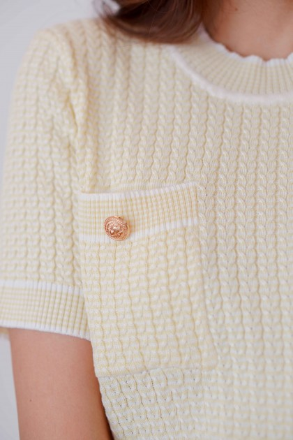 Lemon Mind 2 Piece Knit Set in Yellow