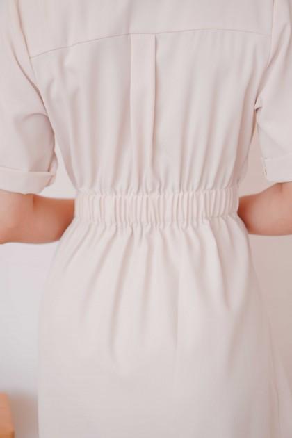 (BACKORDER) In The Now Blazer Dress in Beige