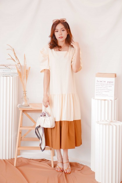 Style House Colourblock Layered Dress