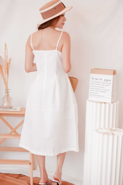 Her Vows Puffy Dress in White