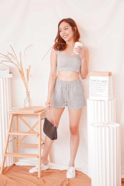 Keep it Casual Lounge Shorts in Grey