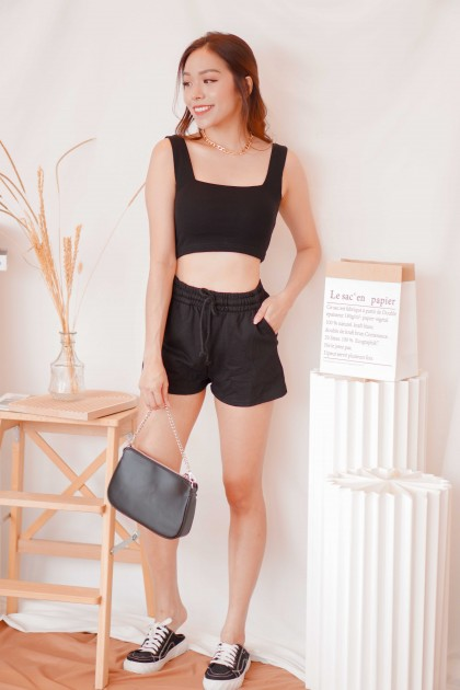 Keep it Casual Lounge Shorts in Black