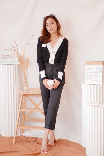 (BACKORDER) Socialite Cardigan Top in Black