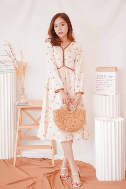 (SAMPLE) Cassandra Floral Long Sleeve Dress