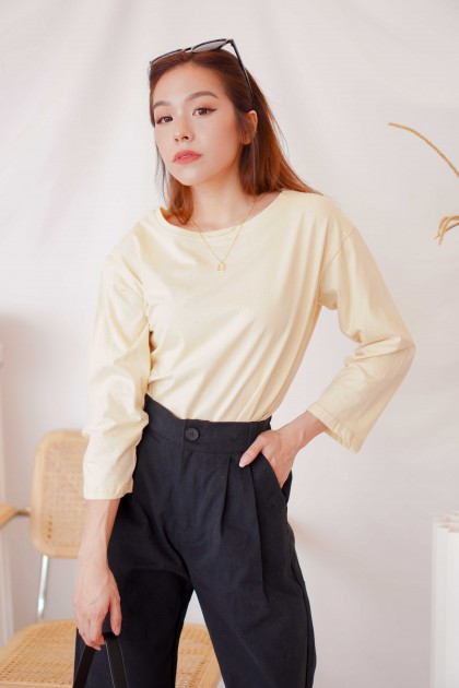 First Mornings Top in Light Yellow