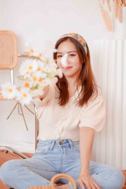 (BACKORDER) Young Summer Crochet Knit Top in White