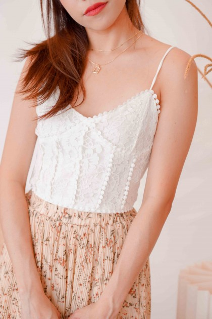 Truth Moment Lace Bralet in White