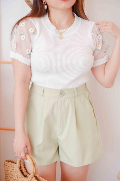 (BACKORDER) True Daisy Floral Knit Mesh Top