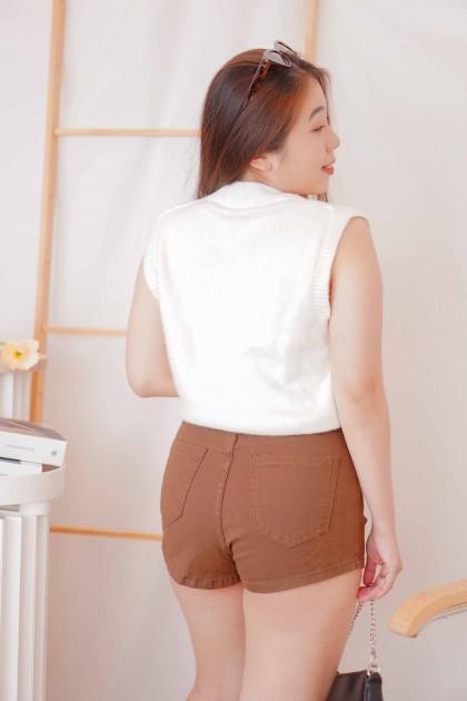 Milk Candy Knit Vest in White
