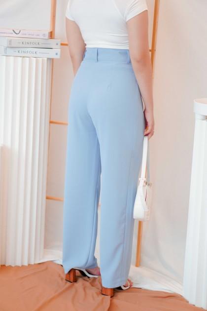 Ocean Skyline High Waisted Pants in Blue