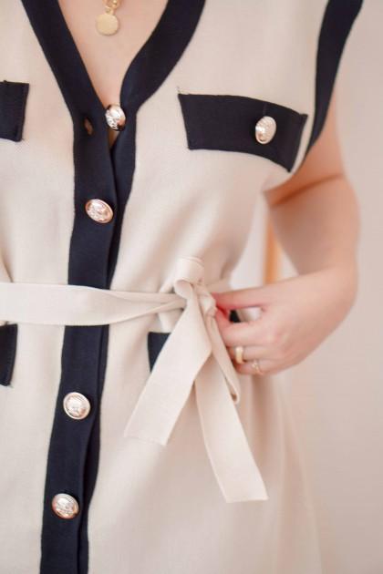 (BACKORDER) Leona Cardigan Dress in Beige